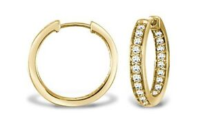 Ladies-Diamond-Hoop-Earrings-Hatton-garden-made-9ct-YELLOW-gold-57ct-PAVE-set