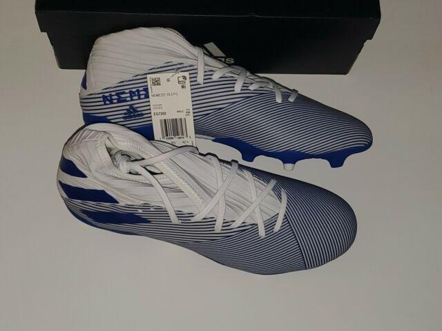 Adidas Nemeziz 19.3 FG Soccer Cleats EG7202 Men's Size 9 ---White/ Blue