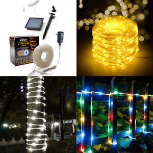 Solar-Powered-100-200-LED-String-Fairy-Lights-Garden-Outdoor-Xmas-Party-Lamp
