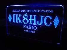 DELUXE Multi Colors Custom Engraved LED Ham Shack Amateur Radio Call Sign Plaque