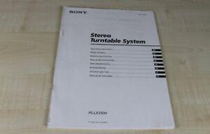 Sony-PS-LX350H-original-Bedienungsanleitung-mehrsprachig-Deutsch