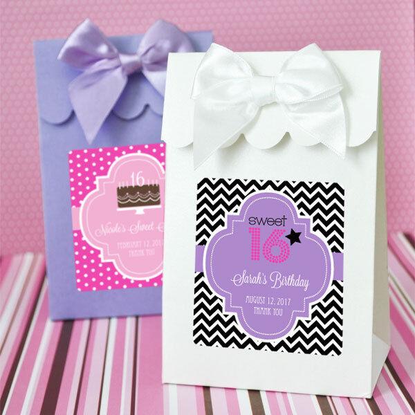 144 Sweet 16 fête d'anniversaire Candy boxes Bags Faveurs