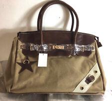 Lovely Lauri Canvas Handtasche Vintage,Tasche, Sternen Applikation,Umhängetasche