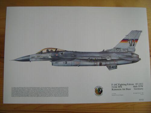 512th TFS PRINT F-16C
