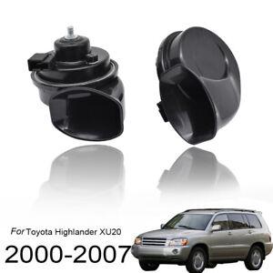 410-510Hz-High-Low-Tone-Loud-Snail-Horn-For-Toyota-Highlander-XU20-2000-2007