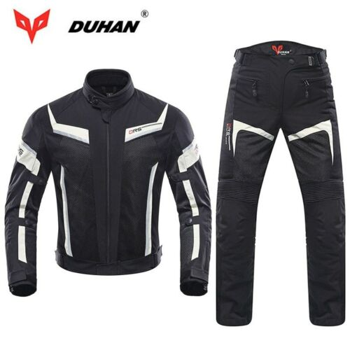 DUHAN Men Riding Motorcycle Jacket Motocross Trousers Summer Mesh Racing Clothes