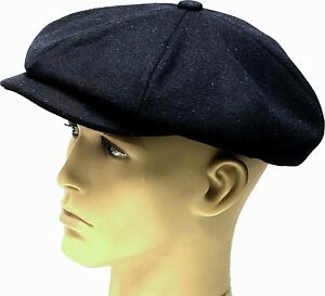 c0cb019e564 Peaky Blinders Hat Newsboy Gatsby Cap Navy Blue Bakerboy Country ...