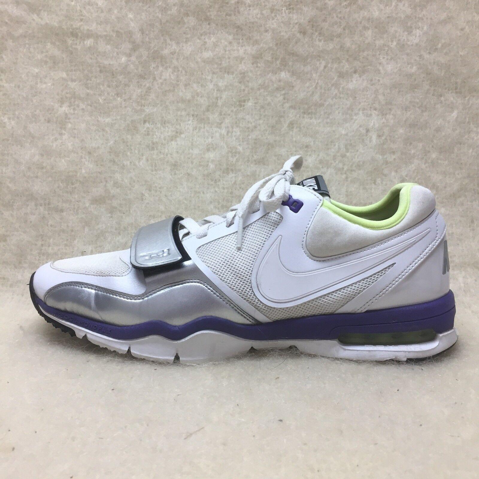 nike 407865-111 entraîneur max air femmes taille 11 Blanc   Vert   Violet  2f0c9e