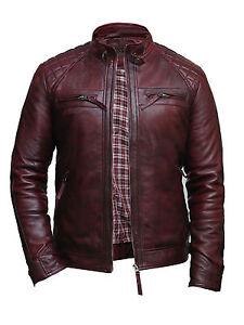 Brandslock-Mens-Leather-Biker-Jacket-Genuine-Lamb-Skin-Vintage