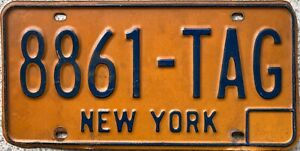 New York 1970's American License USA Licence Number Plate 8861 TAG
