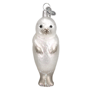 034-Seal-Pup-034-12245-X-Old-World-Christmas-Glass-Ornament-w-OWC-Box