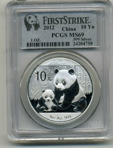 176965 2012 China 10 Yuan Silver Panda PCGS MS-69 First Strike