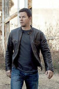 Contraband-Mark-Wahlberg-039-s-Mens-Distressed-REAL-Cow-Hide-Leather-Jacket