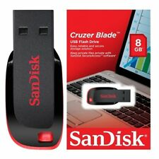 SanDisk 8GB Cruzer BLADE USB 2.0 Flash Pen Thumb Disk Drive SDCZ50-008G GENUINE