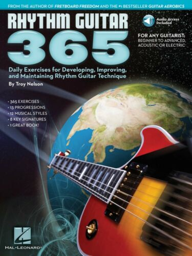Rhythm Guitar 365 Guitar Educational Book and Audio NEW 000103627