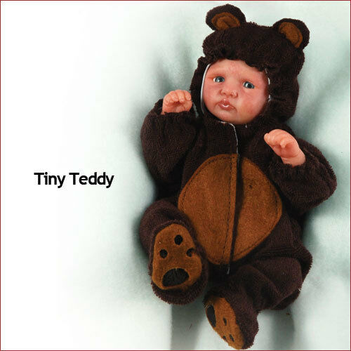 Doll Kit 6 Inch Baby Molly With Teddy Bear Outfit ~ REBORN DOLL SUPPLIES