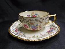 """Rosenthal Pompadour, Sanssouci, Ivory w/ Florals: Cup & Saucer Set (s), 2 1/8"""""""