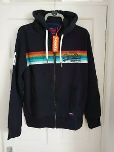 Details about Mens Superdry Vintage Logo Cali Zip Hoodie Eclipse Navy Size XL Brand New!!