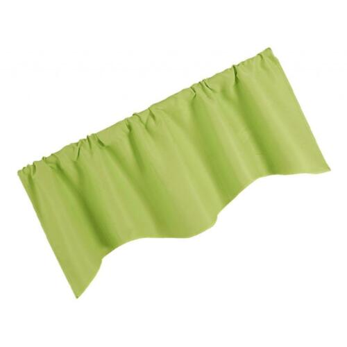 Solid Color Window Panel Drape Valance Kitchen Cafe Short Curtain Rod Pocket
