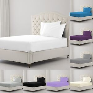EXTRA-DEEP-FITTED-SHEET-SET-WITH-PILLOWCASES-100-EGYPTIAN-COTTON-DOUBLE-KING