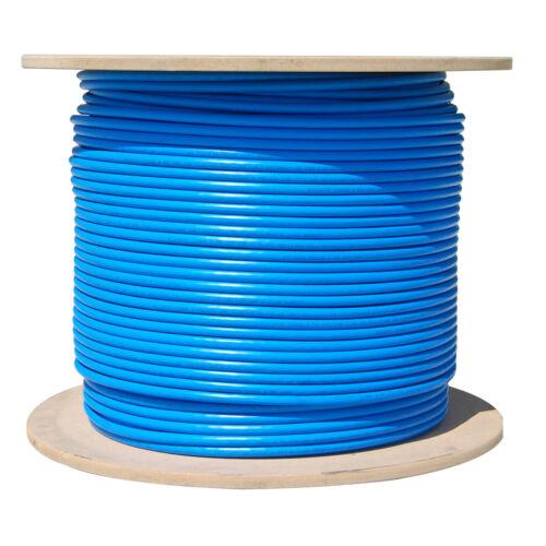 CAT5E PLENUM CABLE 1000FT SOLID UTP 350MHz BULK WIRE LAN NETWORK ETHERNET BLUE