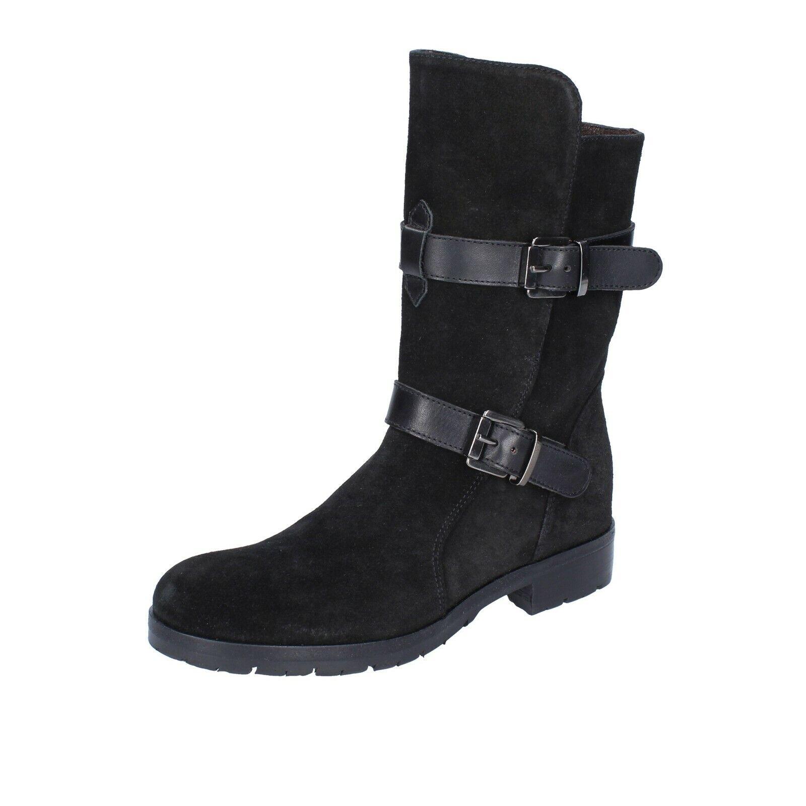 Chaussures Femmes TRIVER FLIGHT 38 UE bottines noir daim br206-38