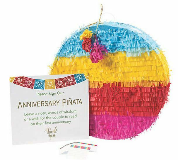 Farbeful Anniversary Pinata With Sign Fun Wedding Guest Book Alternative