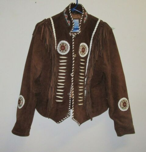 Men's Traditional Western suede leather Jacket coa