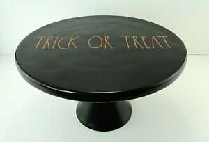 Rae Dunn Magenta Halloween Black Orange Cake Stand Trick Or Treat Hard To Find