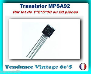 LOT-DE-1-2-5-10-OU-20-TRANSISTORS-HIGHT-VOLTAGE-PNP-MPSA92