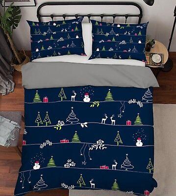 3d Weihnachten Xmas 522 Bett Kissenbezüge Steppen Duvet Decken Set Single De Das Ganze System StäRken Und StäRken Bettwäsche Möbel & Wohnen