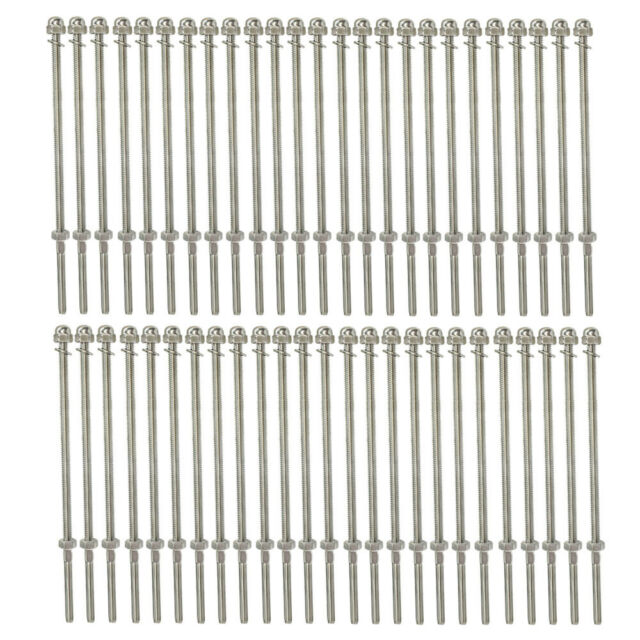 """10 PC 4/"""" Long End Fitting For 1//8/"""" Cable Rail Railing Stainless Steel 316 Grade"""