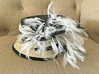 Austin Reed Wedding Occasion Black Cream Hat Ebay