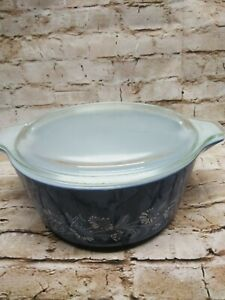 Vintage Pyrex Colonial Mist 475-B Casserole Dish with Lid