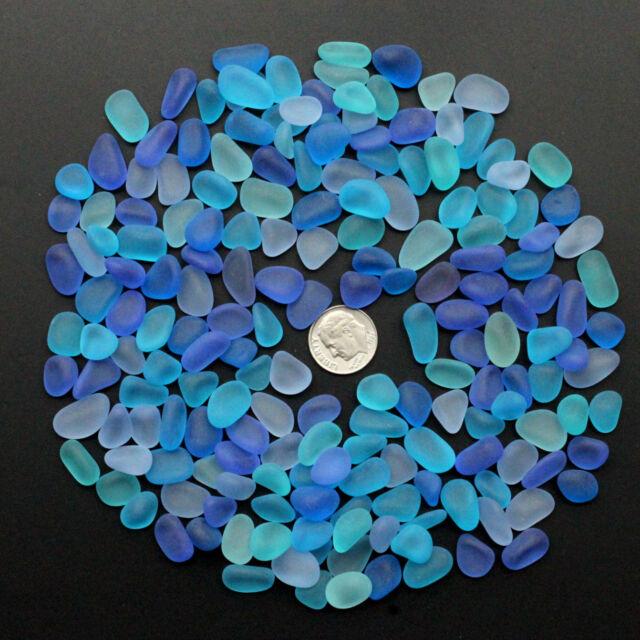sea beach glass mixed color lot bulk wholesale blue aqua cobalt jewelry use