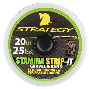 Strategy-Karpfen-Vorfachmaterial-Stamina-Strip-T-20m-25lbs-in-2-Farben