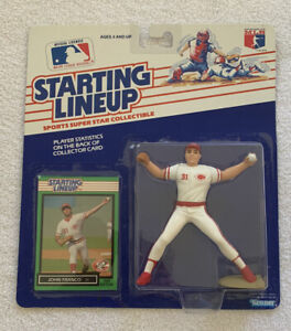 1989 - MLB Starting Lineup JOHN FRANCO Figure, Cincinnati Reds-Vintage NOS