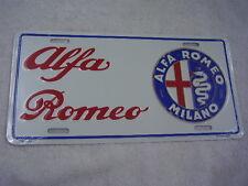 ALFA ROMEO  LICENSE PLATE