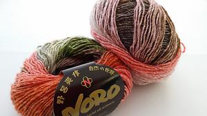 550 g noro Silk Garden Lite 2094 seda//Kid mohair//Lamb/'s wool historial Garn