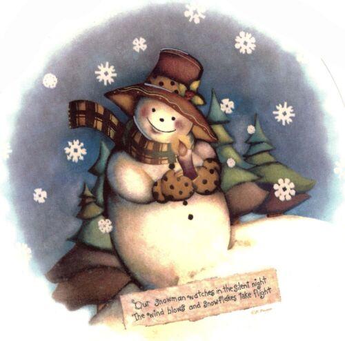 Silent Night Folk Art Snowman Select-A-Size Waterslide Ceramic Decals Xx
