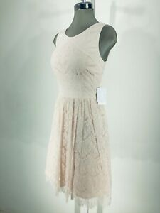 c24fcc06b98 JESSICA SIMPSON NEW Dress Woman Size 8 STUNNING SOFT PINK LACE FIT ...