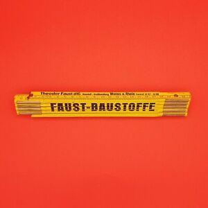 Zollstock-034-FAUST-BAUSTOFFE-034-Theodor-Faust-oHG-Baustoff-Grosshandlg-2m