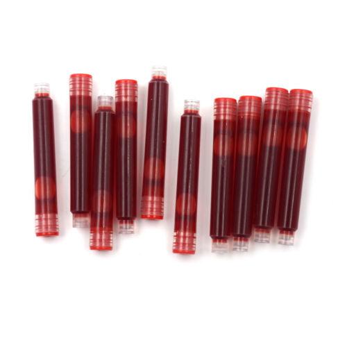 10PCS Disposable Fountain Pen Ink Cartridge Refills Fountain Pen Ink Refill RF