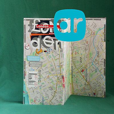 Map Laminated London City [augmENTED reaLITY AR] - Landmarks, Tube, Street Index