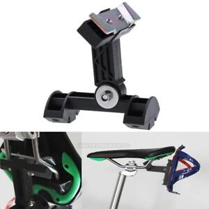 Plastic-Alloy-Bike-Bicycle-Double-Water-Bottle-Holder-Cage-Adapter-Rack-Black