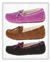Kids Ugg Australia Dakota Slipper Sheepskin Shoes 5296 Chestnut Pink Black