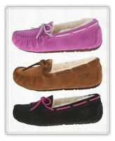 Kids Ugg Australia Dakota Slipper Sheepskin Shoes 5296 Chestnut Pink Black