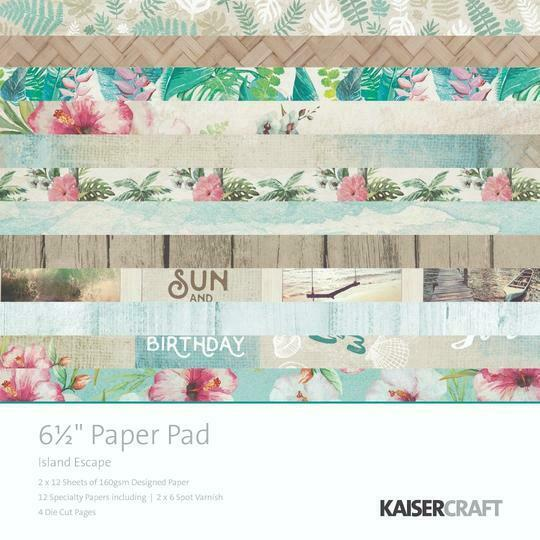 Kaisercraft 'Island Escape' Paper Pad 6.5 x 6.5 scrapbook paper