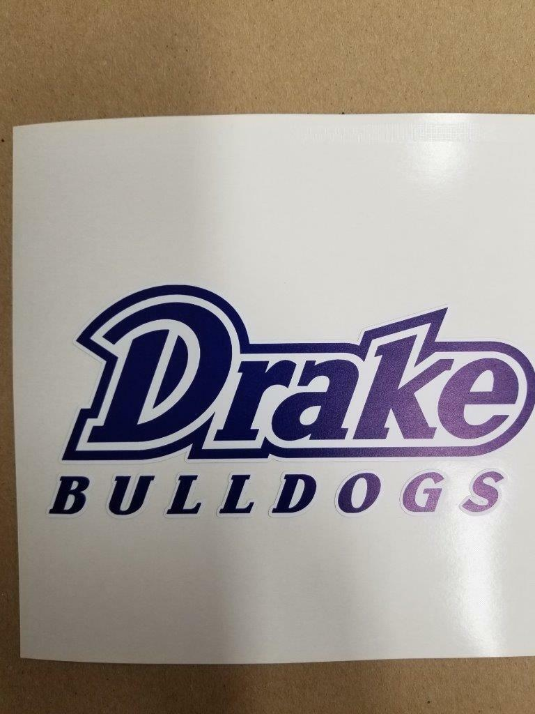 Drake  Bulldogs Cornhole board or vehicle window decal(s)DB6  everyday low prices