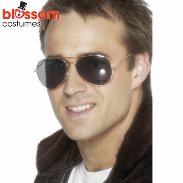 AC107 Aviator Top Gun Gold Frame Specs Sunglasses